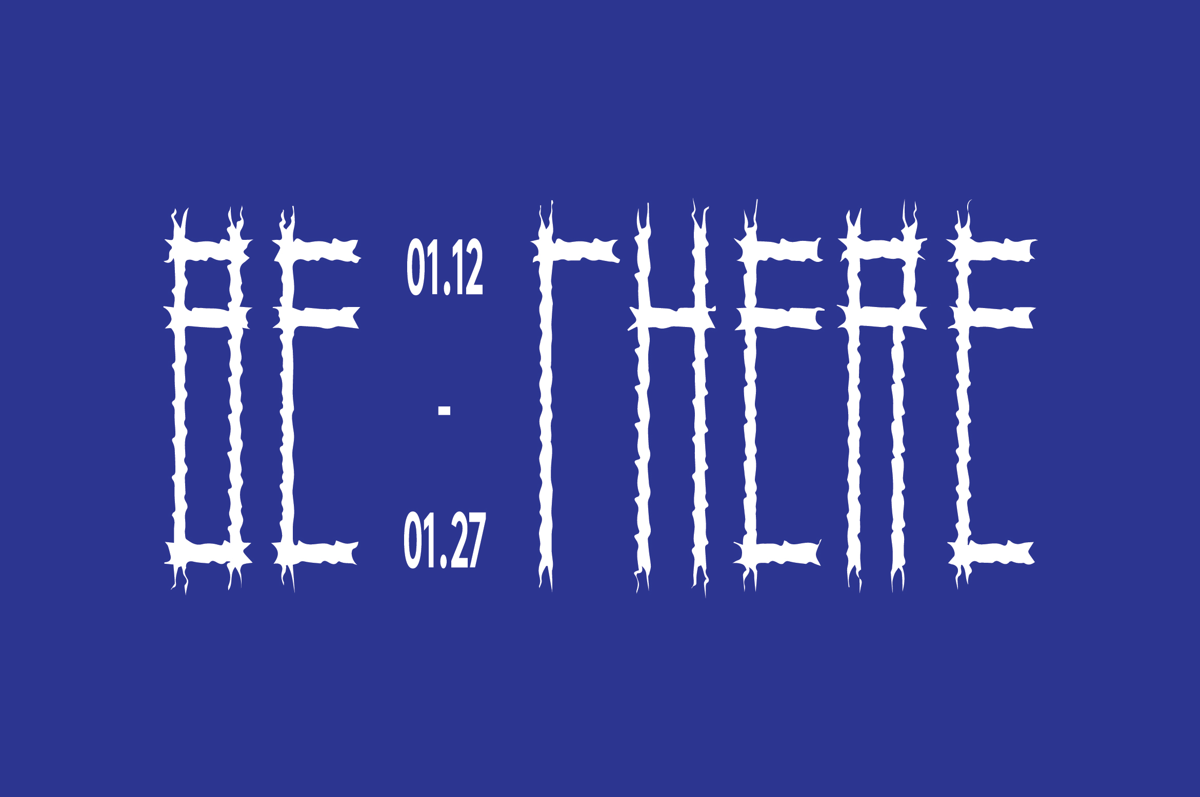 Identity and logo for BE THERE - Design Festival in Sham Shui Po by dtby_, Ron Wan, and Mildred Cheng.