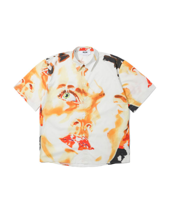 Ron Wan with MSGM face print shirt only at I.T eSHOP.