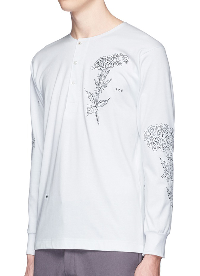 Ron Wan: Textile design for SAAM1. 3M Reflective Rooster Embroidered Padded Coach Jacket. Only at Lane Crawford
