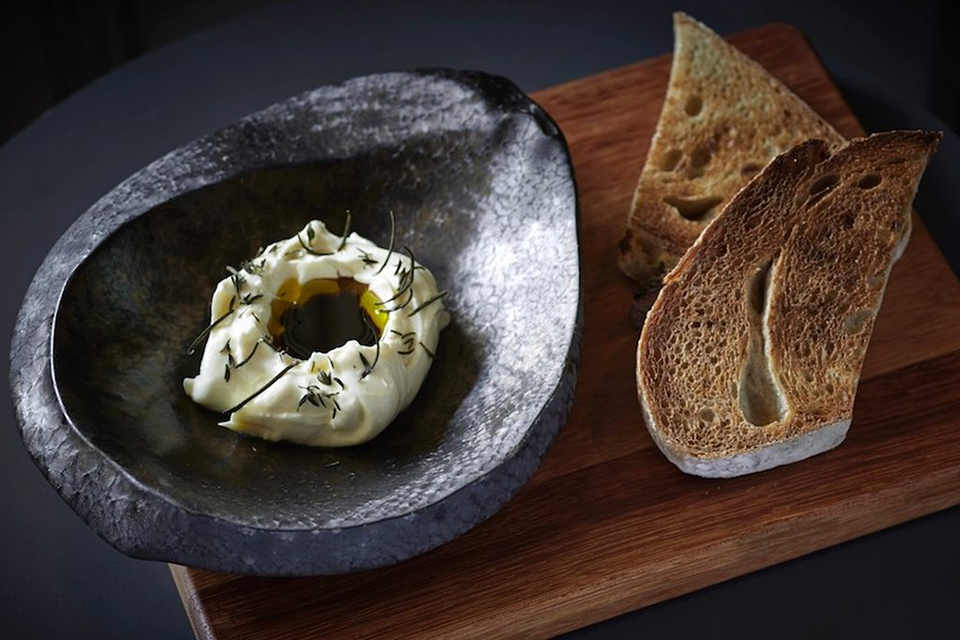 Menu Design by Ron Wan. House Made Ricotta Promotion at The Pawn's 2/F Tom Aikens Kitchen in Wan Chai, Hong Kong
