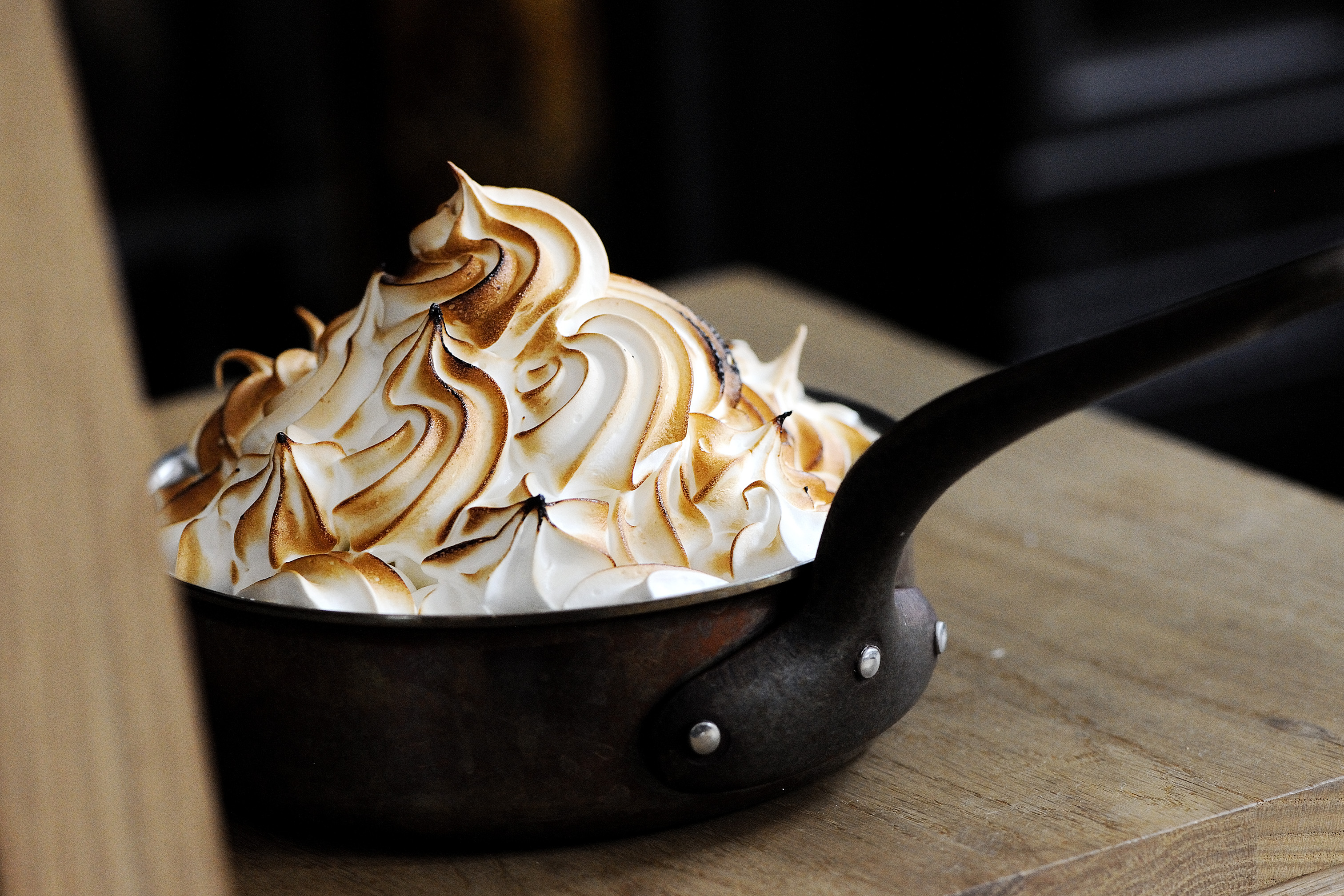 Menu Design by Ron Wan. Tom's Famous Baked Alaska Promotion at The Pawn's 2/F Tom Aikens Kitchen in Wan Chai, Hong Kong
