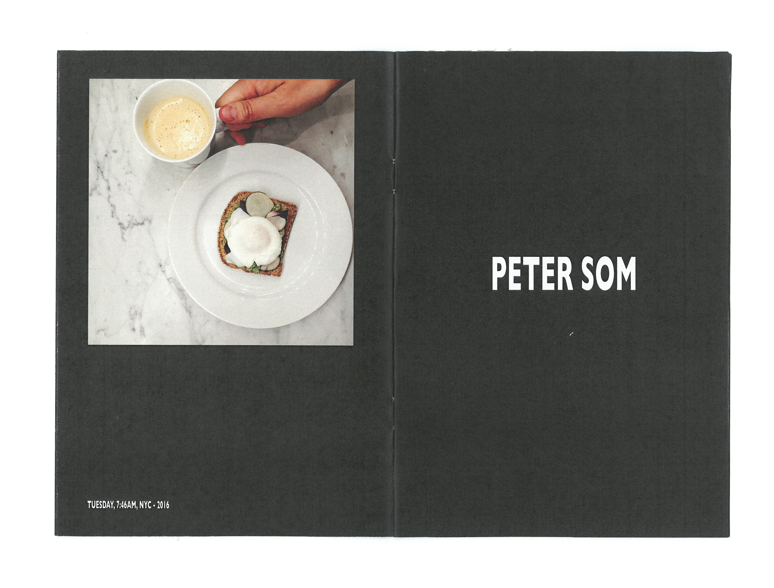 Time Zine: Breakfasttime by Peter Som featuring Tuesday, 7:45 AM, NYC, 2016