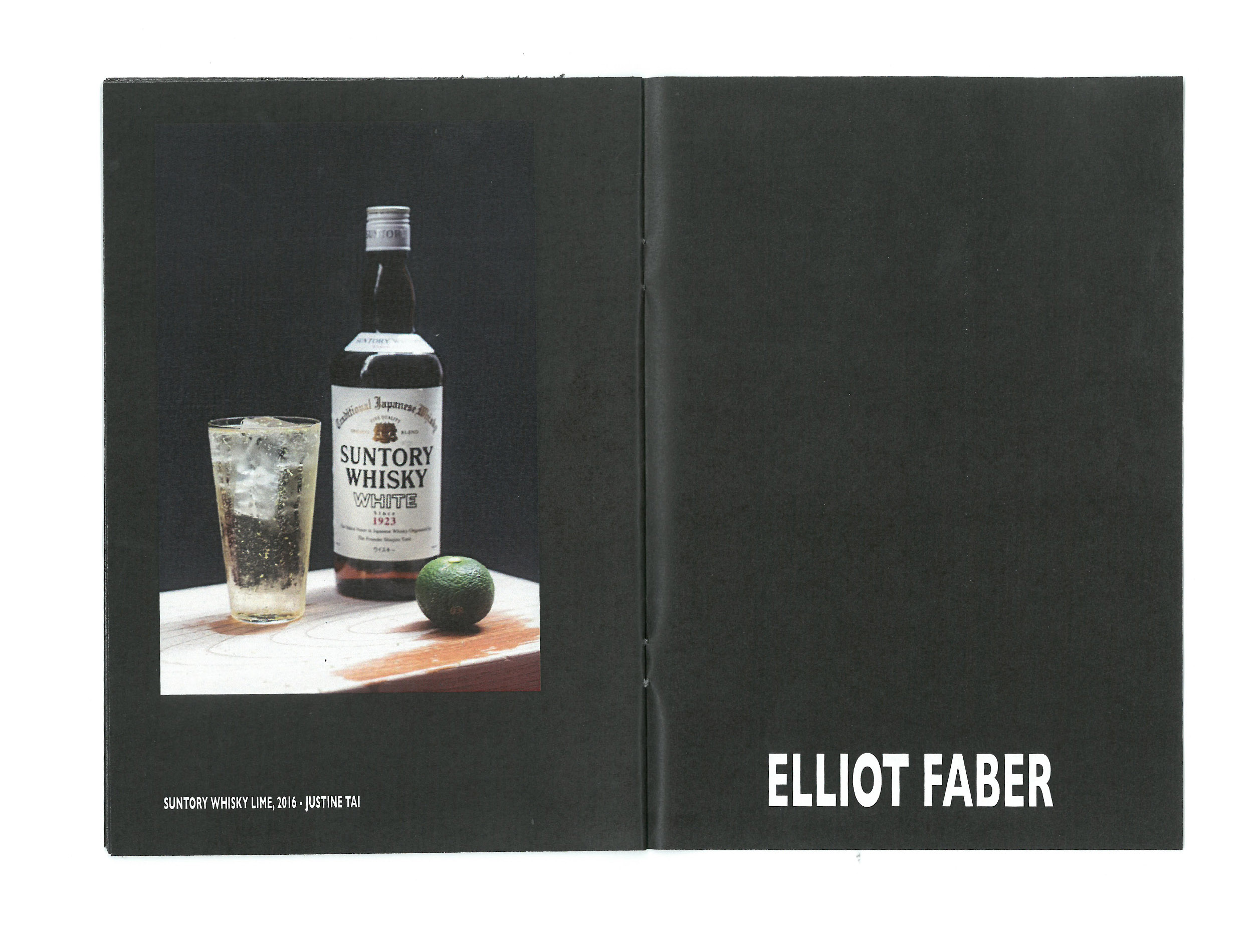 Time Zine: Santory Whisky Lime, 2016 by Elliot Faber for Desserttime