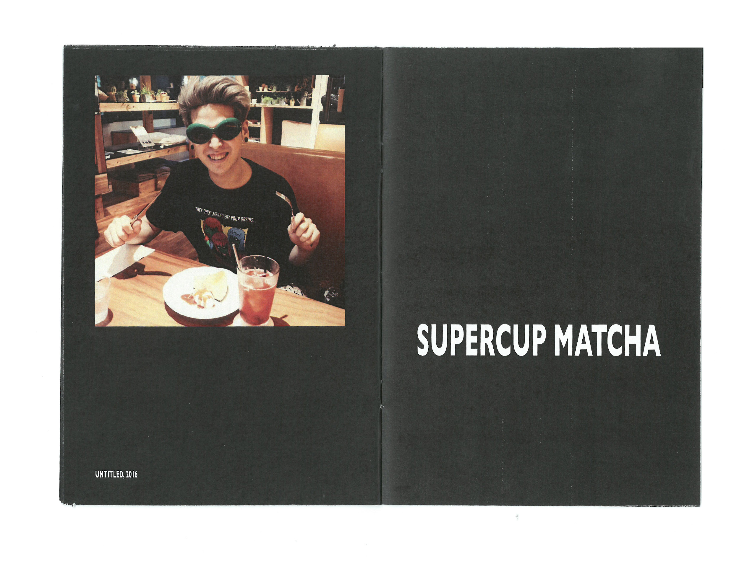 Time Zine: Untitled, 2016 by Supercup Matcha for Desserttime