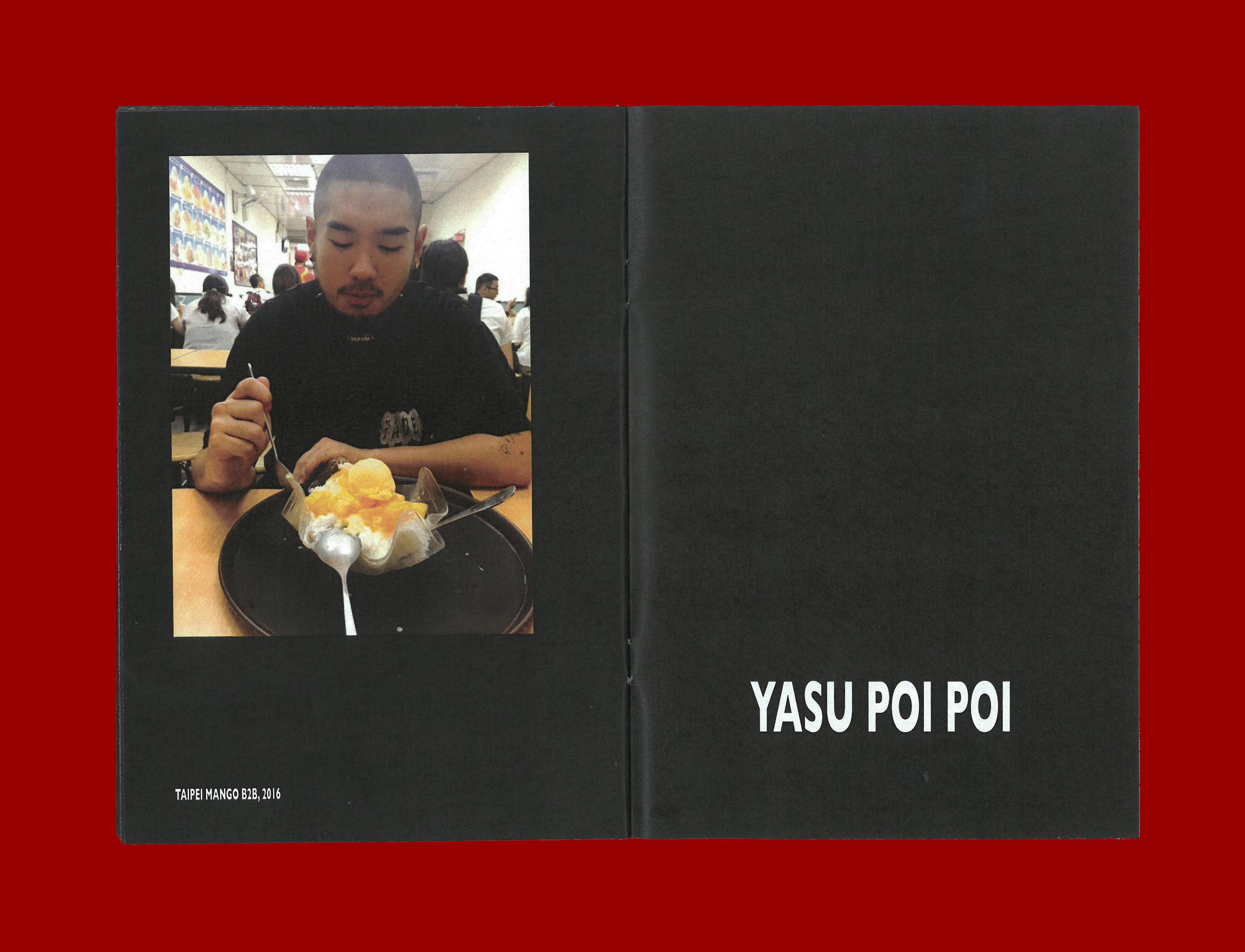 Printed Matter by Ron Wan. Fanzine: Desserttime, featuring Taipei Mango B2B, 2016 by Yasu Poi Poi