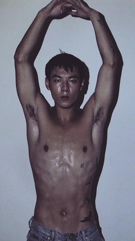 Ron Wan with model Jonathon Wong in Lai Chi Kok, Hong Kong.