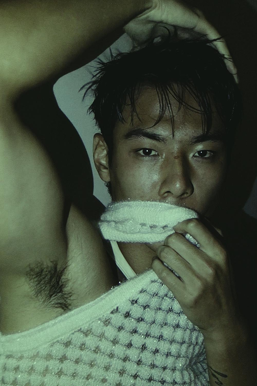 Ron Wan with model Jonathon Wong in PONDER.ER
