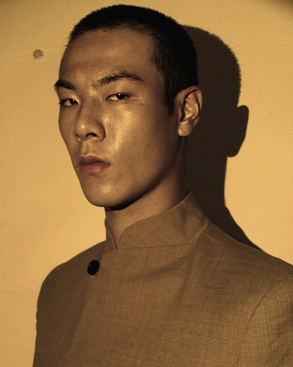 Ron Wan with model Jonathon Wong in Yat Pit