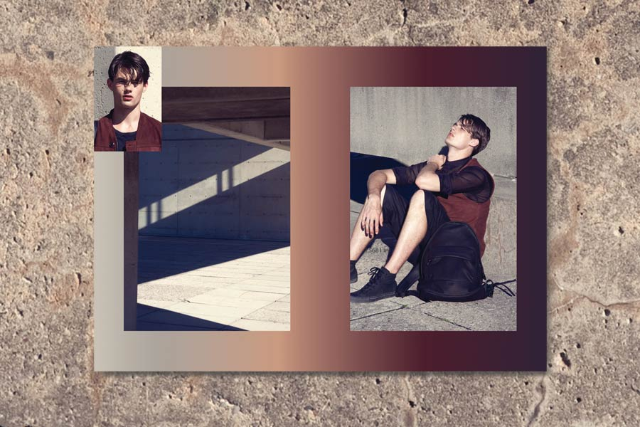 Ron Wan: Krane Design Spring/Summer 2014 Menswear Collection with Liam Hickey from Elite Model Management photographed by Mckenzie James.