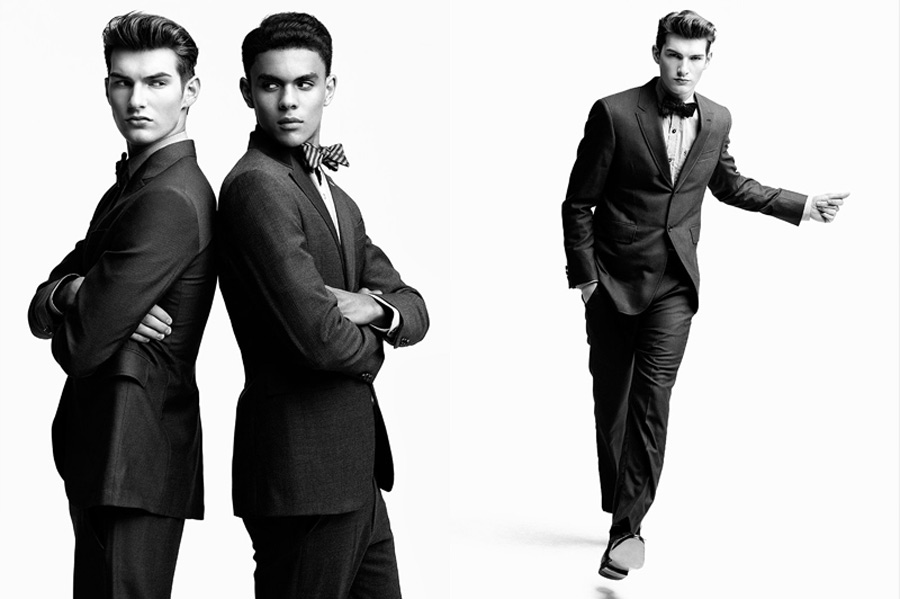 Ron Wan: with Richard Pier Petit Brandon Gray and Justin Pinos of Vision Model Management for The Fashionisto
